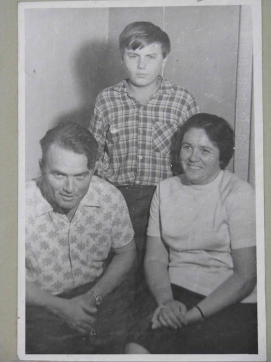 Деревские - семья Геннадия. 1974 год.