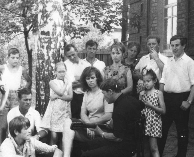 1972. Встреча Деревских. Съёмки Роменской Мадонны.