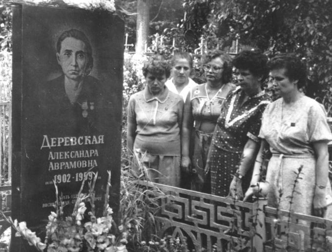 1987. Встреча Деревских. Маршрут Памяти - у могилы Мамы.