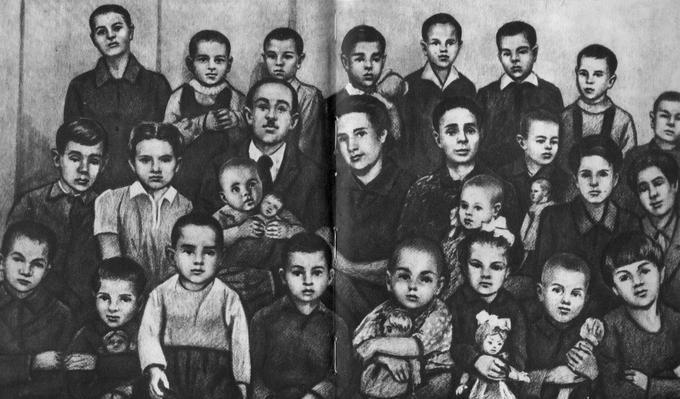 Семья Деревских в 1946 году.