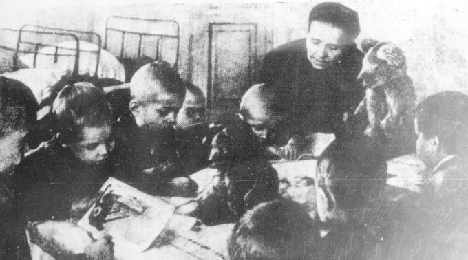 Семья Деревских - Мама с младшими детьми. 1947 год.