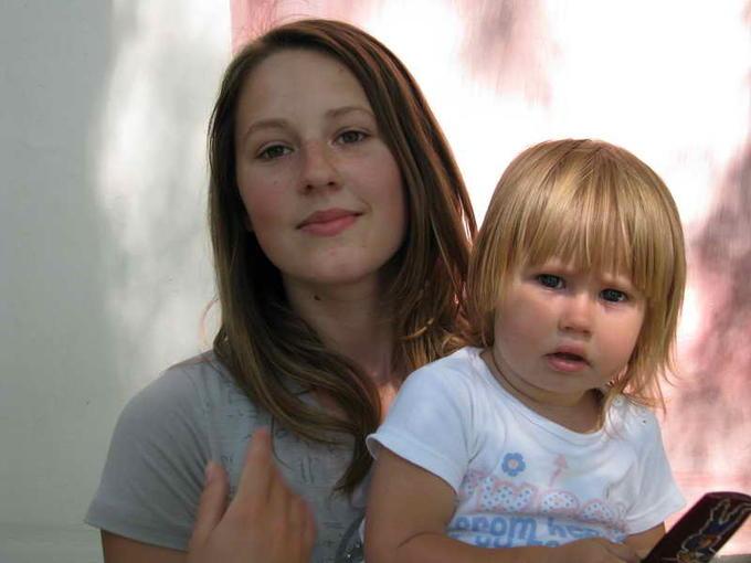 Алина с дочерью Лерой, правнучка и праправнучка - внучка и правнучка Валерия.