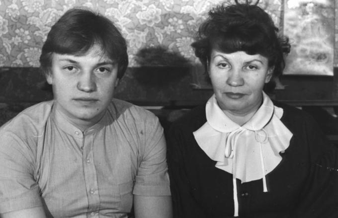 Лида с сыном Сашей.