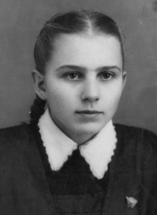 Светлана Деревская, 1956 год.