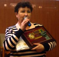 Скрипка Лідія Олексіївна нагороджена Орденом і Пам'ятним знаком «Мати-героїня Олександра Аврамівна Деревська»