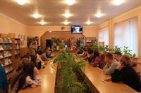 Телеміст Алли Іванівни Сербіної (Деревської) зі школярами у бібліотечно-інформаційному центрі школи № 12 міста Біла Церква